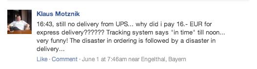 Ordering Complaint part 2